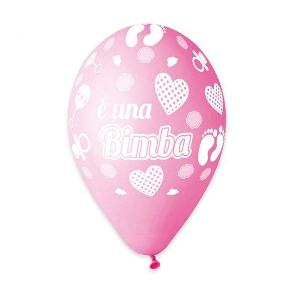 """50 Palloncini in Lattice All Around 12"""" E una Bimba"""