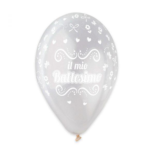 "50 Palloncini in Lattice All Around 12"" Battesimo Crystal"