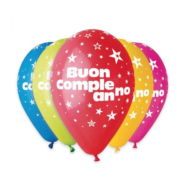 """50 Palloncini in Lattice All Around 12"""" Buon Compleanno Assortito"""