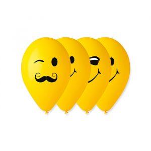 "100 Palloncini in Lattice All Around 12"" Emoticons"