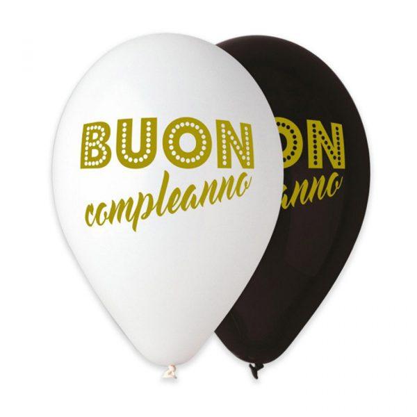 """50 Palloncini in Lattice All Around 12"""" Buon Compleanno Chic"""