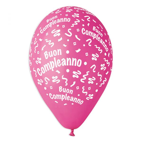 """100 Palloncini in Lattice All Around 12"""" Buon Compleanno Rosa"""