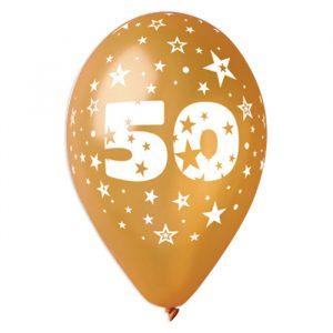 """100 Palloncini in Lattice All Around 12"""" 50° Anniversario"""