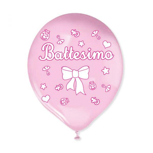 """20 Palloncini in Lattice 12 """" Battesimo Rosa"""