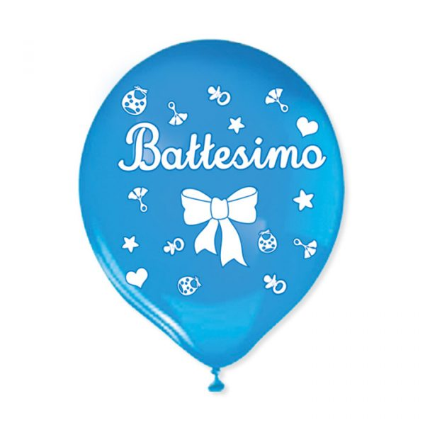 """20 Palloncini in Lattice 12 """" Battesimo Celeste"""