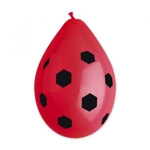 "10 Palloncini in Lattice All Around 12"" Pallone Calcio Rossonero"