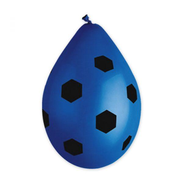 """10 Palloncini in Lattice All Around 12"""" Pallone Calcio Nerazzurro"""