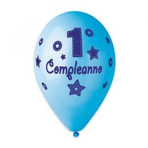 """50 Palloncini in Lattice All Around 12"""" Primo Compleanno Celeste"""