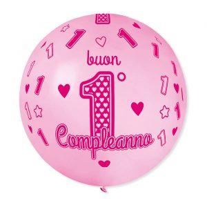 Palloncino 31 1° Compleanno Rosa
