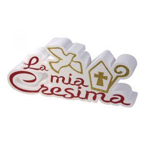 Scritta in Polistirolo 41 x 19 x 5 cm La Mia Cresima