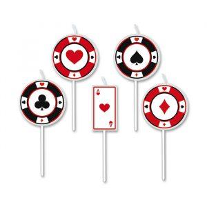 5 Candeline Picks 8 cm Big Poker