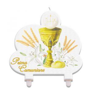 Candelina Maxi Sagomata 12 x 13 cm Comunione Ivory