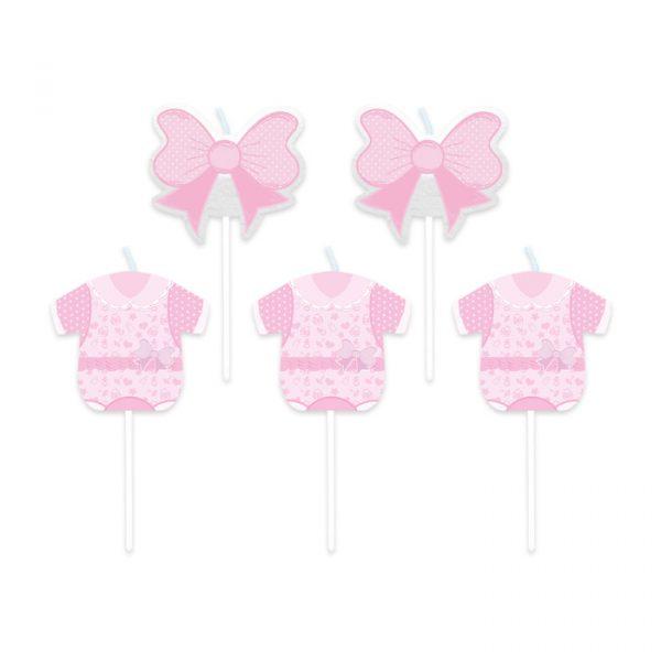 5 Candeline Picks 8 cm Baby Girl