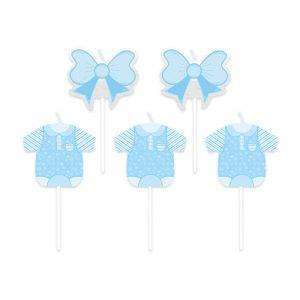 5 Candeline Picks 8 cm Baby Boy