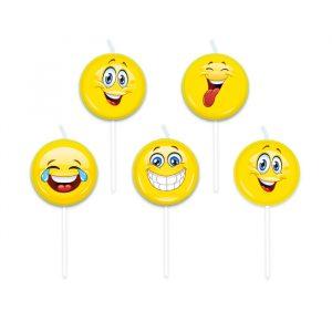 5 Candeline Picks 8 cm Emoticons