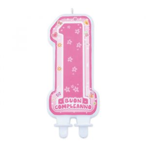 Candelina Maxi Sagomata 6 x 12 cm One Pink