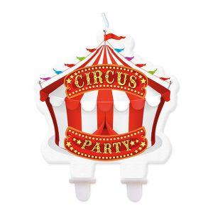 Candelina Maxi Sagomata 8 x 8 cm Circus Party