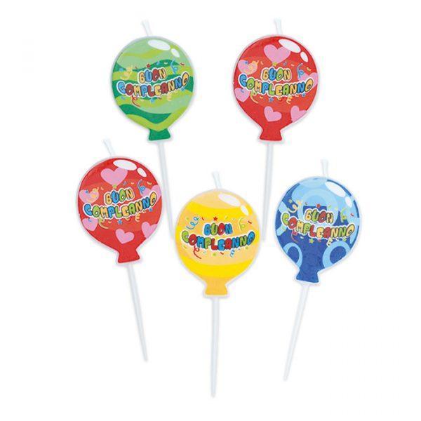 5 Candeline Picks 8 cm Buon Compleanno Balloon