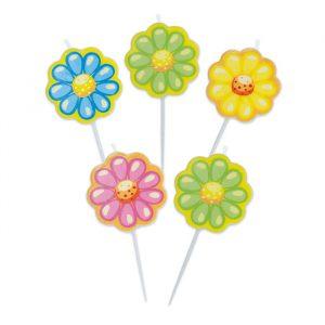 5 Candeline Picks 8 cm #Petaloso