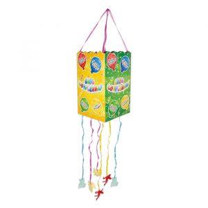 Pignatta quadrata 20 x 33 x 20 cm Buon Compleanno Balloon