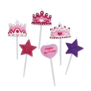 6 Candeline Picks 6 cm Princess