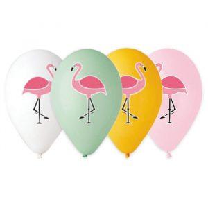 """50 Palloncini in Lattice All Around 13"""" Flamingo"""