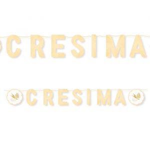 Festone Kit Scritta Maxi 600 x 25 cm La Mia Cresima