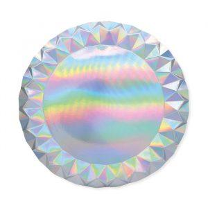 5 Sottopiatti Diamant Ø 32 cm Iridescente