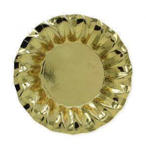 6 Piatti Fondi Ø 24 cm Wavy Gold