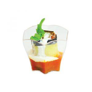 12 Coppette Esagonali Finger Food in plastica 6 x 5
