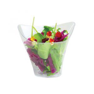 12 Coppette Triangolari Finger Food in plastica 5 x 5 x 3