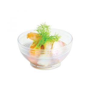 12 Ciotoline Rigate Finger Food in plastica 7 x 7 x 3