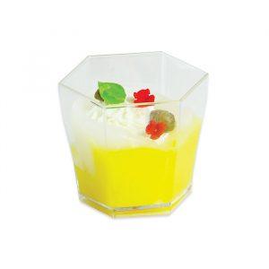 12 Bicchierini Esagonali Finger Food in plastica 5