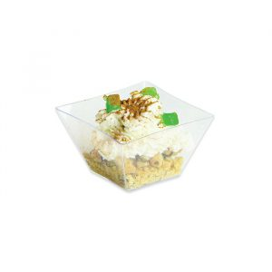 12 Coppette QuadrateFinger Food in plastica 5