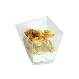 12 Coppette Quadrate Special Finger Food in plastica 5