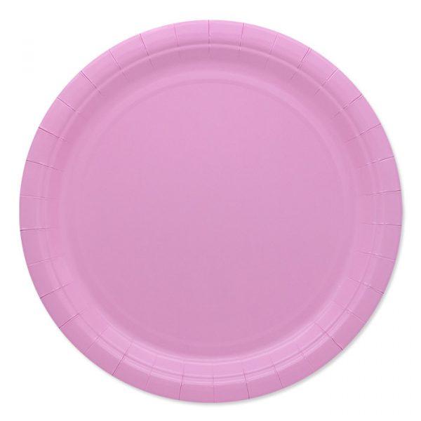 25 Piatti Ecolor Ø 24 cm Rosa