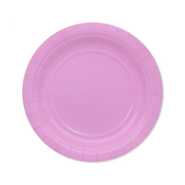 25 Piatti Ecolor Ø 18 cm Rosa