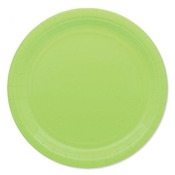 25 Piatti Ecolor Ø 24 cm Verde Mela