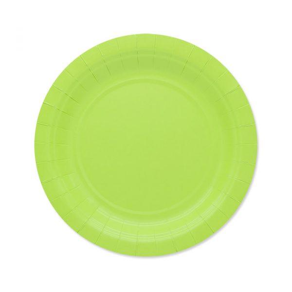 25 Piatti Ecolor Ø 18 cm Verde Mela