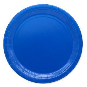 25 Piatti Ecolor Ø 24 cm Blu