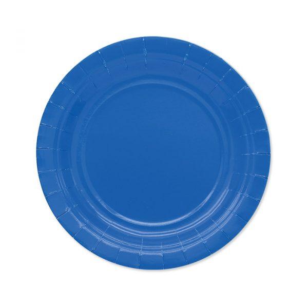 25 Piatti Ecolor Ø 18 cm Blu