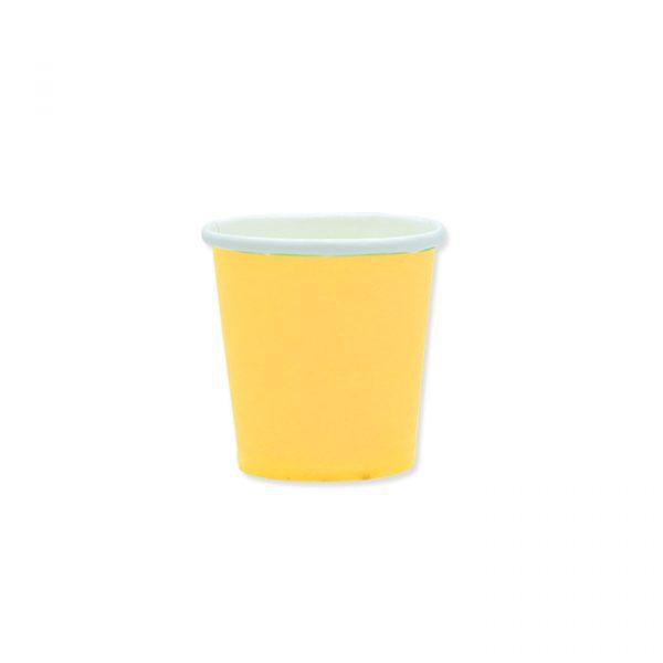 25 Bicchieri Ecolor 80 cc Gialli