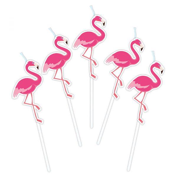 5 Candeline Picks 8 cm Flamingo