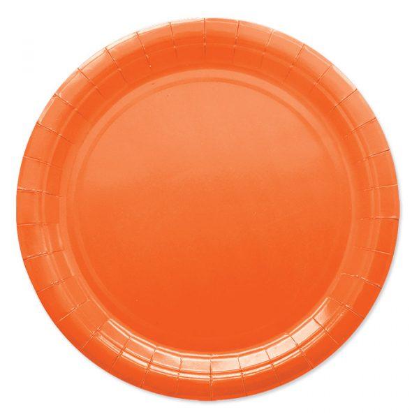 25 Piatti Ecolor Ø 24 cm Arancio