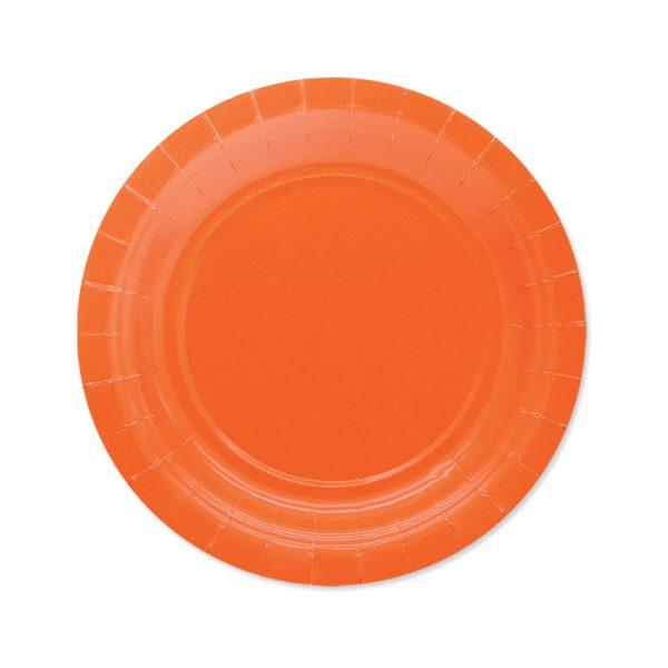 25 Piatti Ecolor Ø 18 cm Arancio
