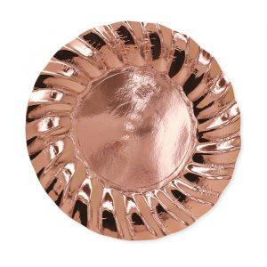 6 Piatti Ø 30 cm Wavy Rose Gold