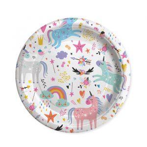 8 Piatti Ø 24 cm Unicorn