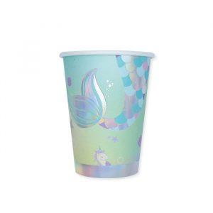 8 Bicchieri 200 cc Mermaid