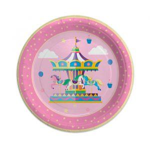 8 Piatti Ø 24 cm Carousel Party