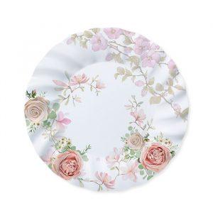 6 Piatti Ø 30 cm Rose Rosa